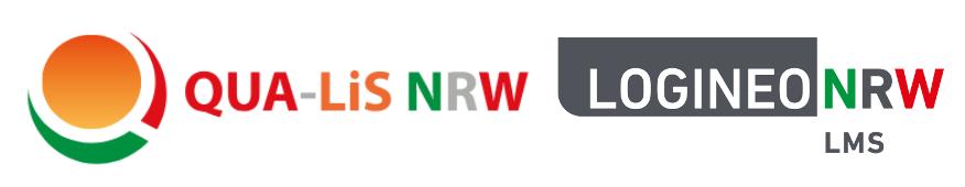 Logos von QUA-Lis und LOGINEONRW